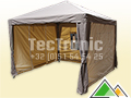Mooie partytent 3x3 taupe beige