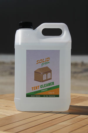 Solid Green tent cleaner navulpak 5 l